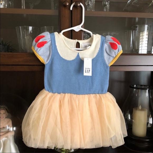 Baby Gap Snow White Dress 4T Disney Princess Tulle